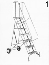 1 Rolling Metal Ladder