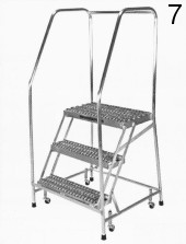 7 Rolling Metal Ladder