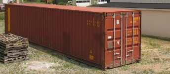 Used Steel Storage Container, Orthographic View Doors Closed